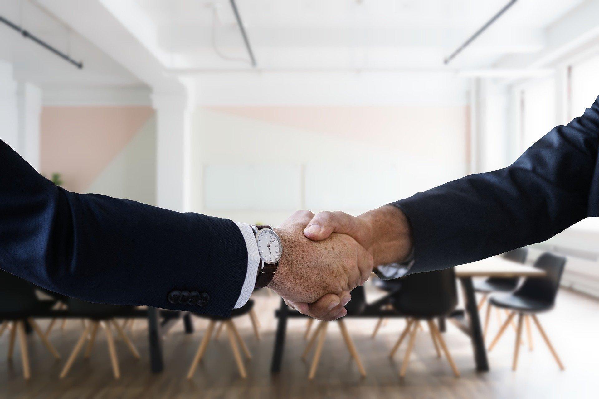 Jobsamtale håndtryk it-rekruttering